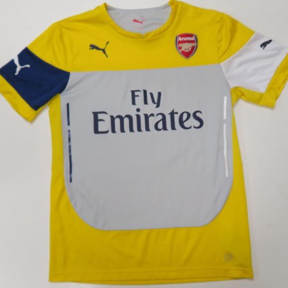 Puma Arsenal FC Soccer Training Jersey Yellow Mens.  M 5b79c804534ef9937006c546 d3e95c263
